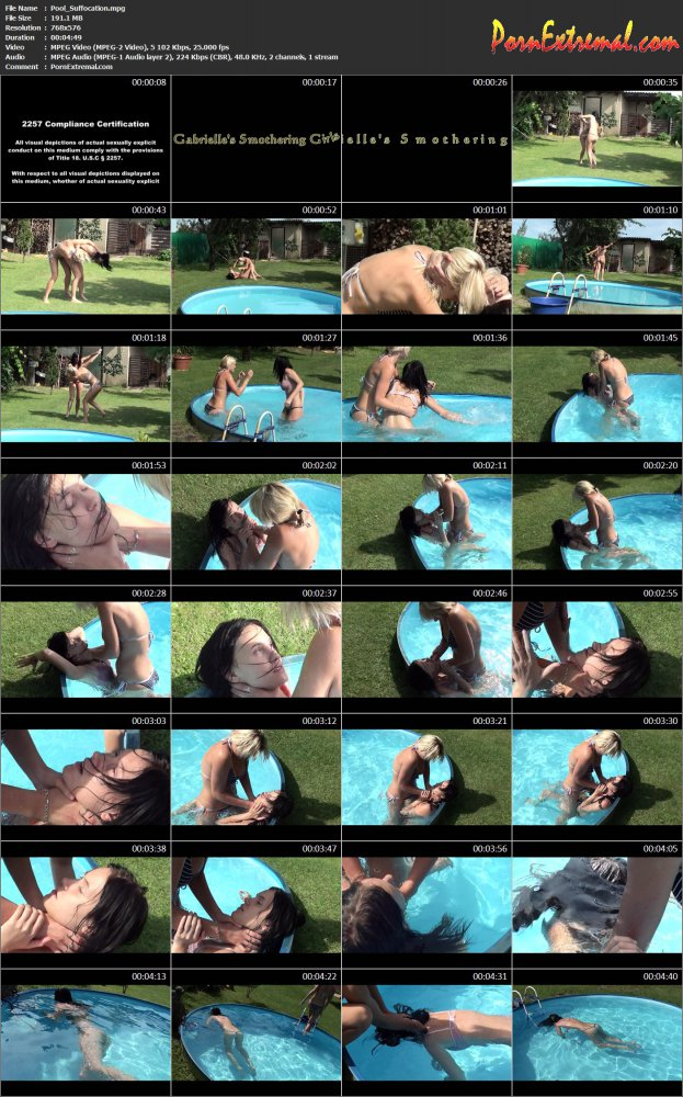 GABRIELLES SMOTHERING GIRLS - Pool Suffocation