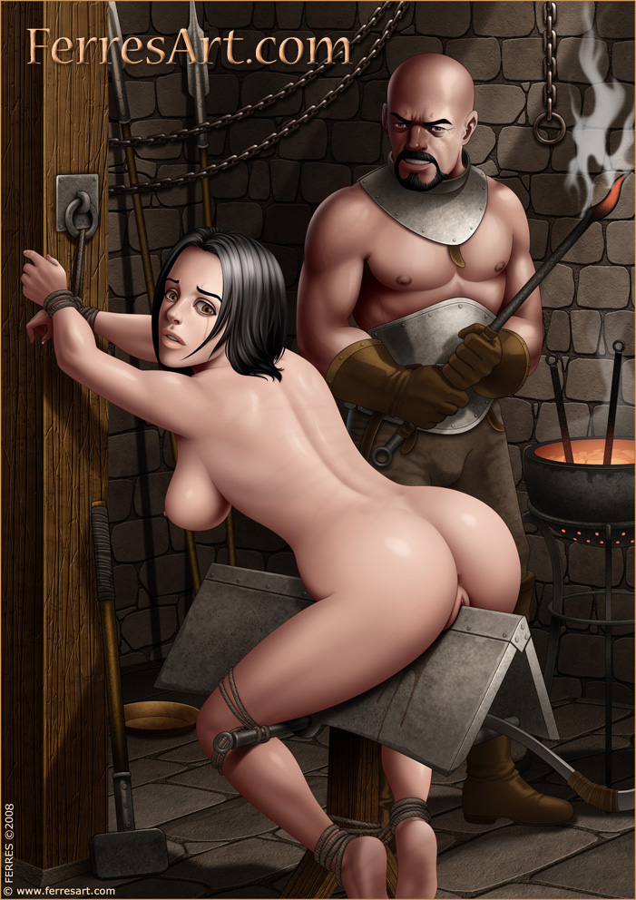 Extreme electro bdsm and wooden device bondage of slave elis 6