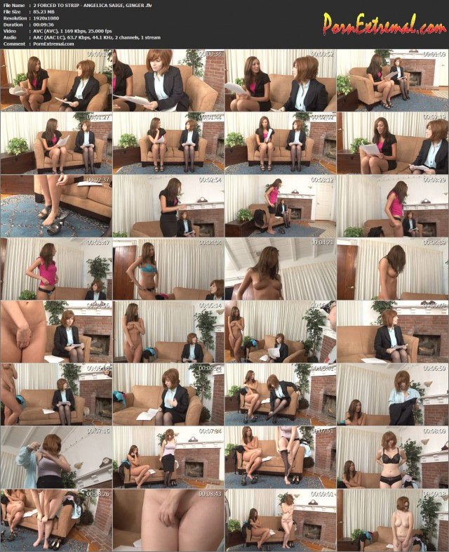 2 FORCED TO STRIP - ANGELICA SAIGE, GINGER