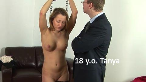 SpankingThem – 18 yo Tanya – Beautiful college girl spanked