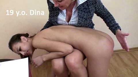 SpankingThem – 19 yo Dina – Bad college girl disciplined