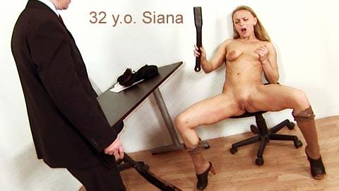 SpankingThem – 32 yo Siana – secretary Siana spanked in different sexy poses