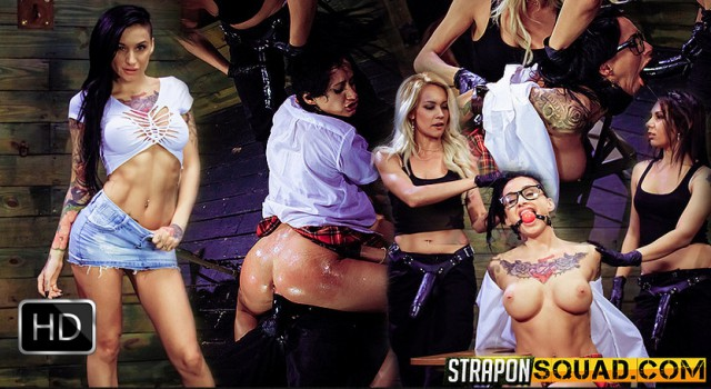Naughty Schoolgirl Alby Rydes is Punished by Mila Blaze & Isa Mendez