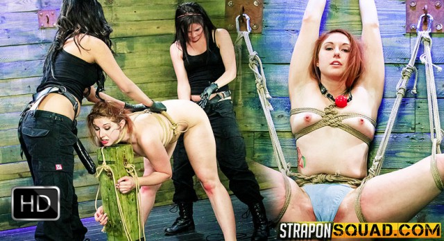StrapOnSquad [FetishNetwork] – Rose Red Rope Suspension with Lexy Villa & Brooklyn Daniels' Strapons