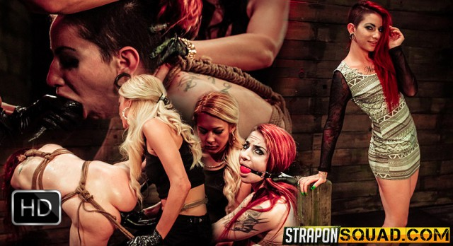 StrapOnSquad [FetishNetwork] – Sheena Rose Endures More Lesbian Domination from Mila Blaze & Brooklyn Daniels