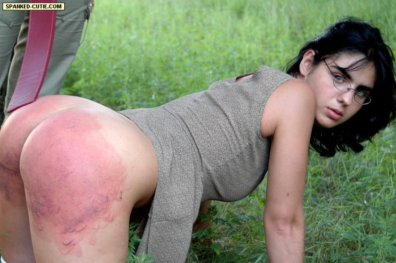 Spank in the forest