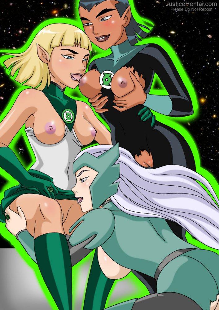 Зеленое порно аниме