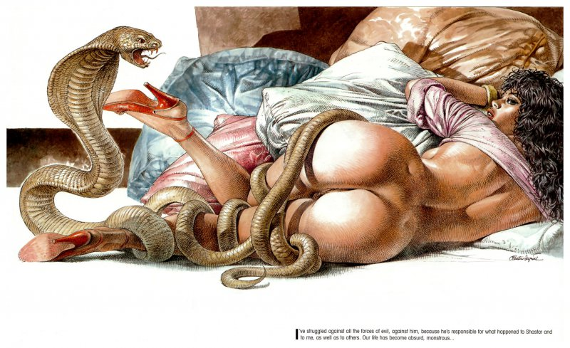 Snake woman porno pictures hentay video