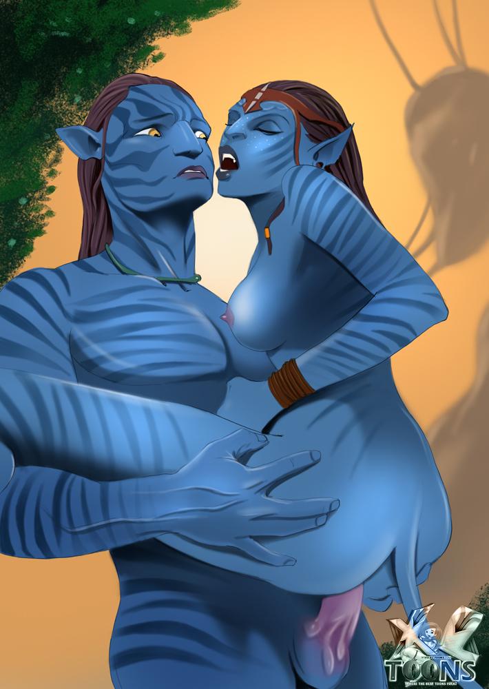 Аватар синие люди порно аниме фото
