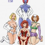 79927 - Emma_Frost Marvel Mystique Rogue Wanda_Maximoff White_Queen Wolverine_(series) X-Men tawd