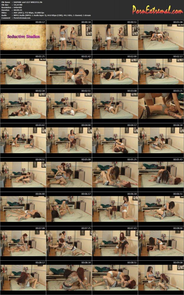 Seductive Studio – Fighting – DAPHNE & LILY WRESTLE