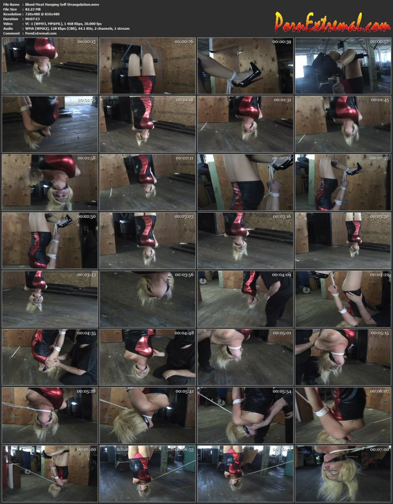 HuntersHorror – Blond Meat Hanging Self Strangulation