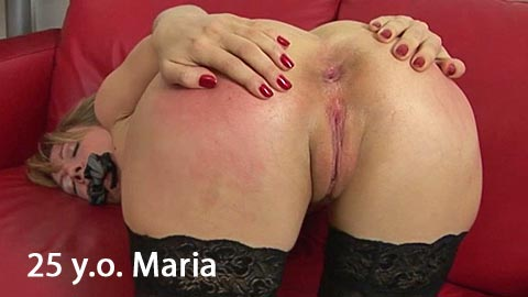 SpankingThem – 25 yo Maria – spanked with anal ball in her anus