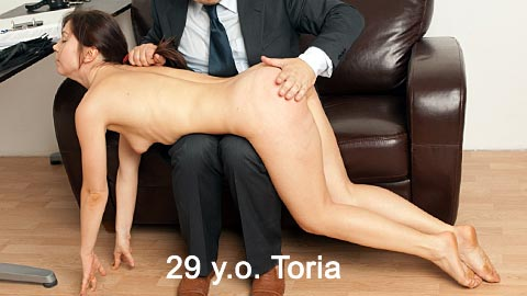 SpankingThem – 29 yo Toria – secretary Toria spanked for bad report + self spanking