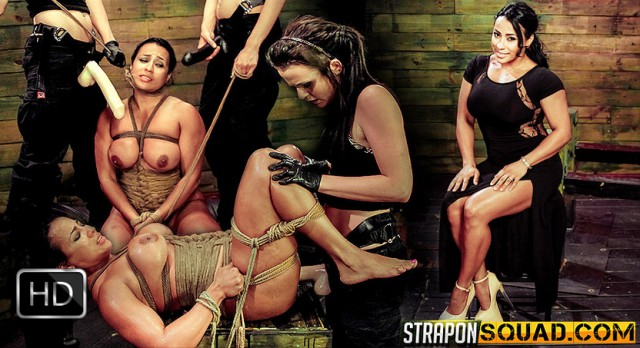 StrapOnSquad [FetishNetwork] – Brooklyn Daniels & Mila Blaze Love Rope Bondage with Cougar Becca Diamond