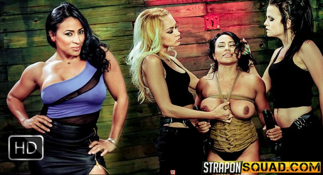 StrapOnSquad [FetishNetwork] – Hot Muscle MILF Becca Diamond's 1st Lesbian Domination with Brooklyn Daniels & Mila Blaze