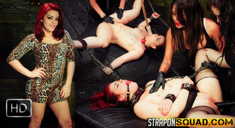 StrapOnSquad [FetishNetwork] – More Lesbian Slave Training for Kimber Woods with Brooklyn Daniels & Mena Li