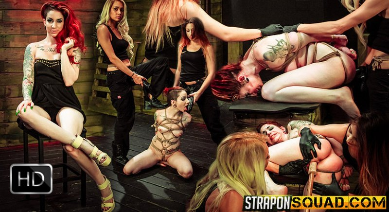 StrapOnSquad [FetishNetwork] – Rope Suspension BDSM Fun for Sheena Rose with Mila Blaze & Alexa Rydell
