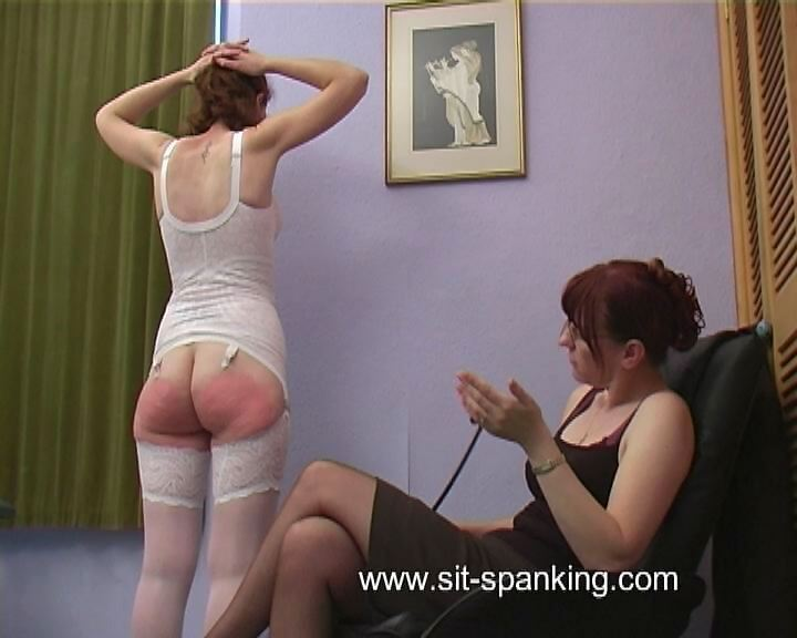 Sit-Spanking – A well chastised bottom