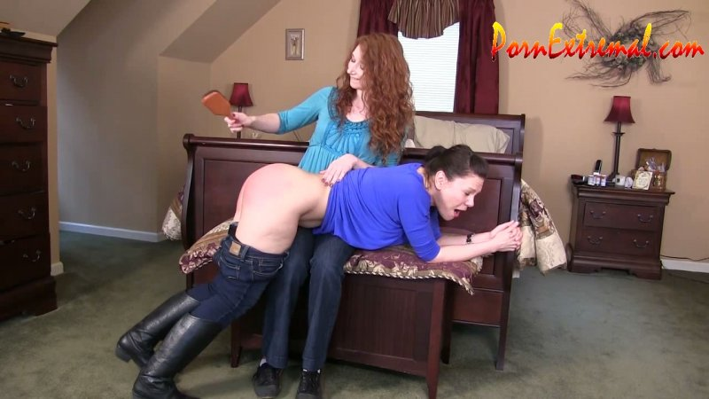 PunishedBrats – The Contest: Audrey's Hairbrush Spanking